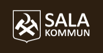 Sala kommunlogotyp - vit version