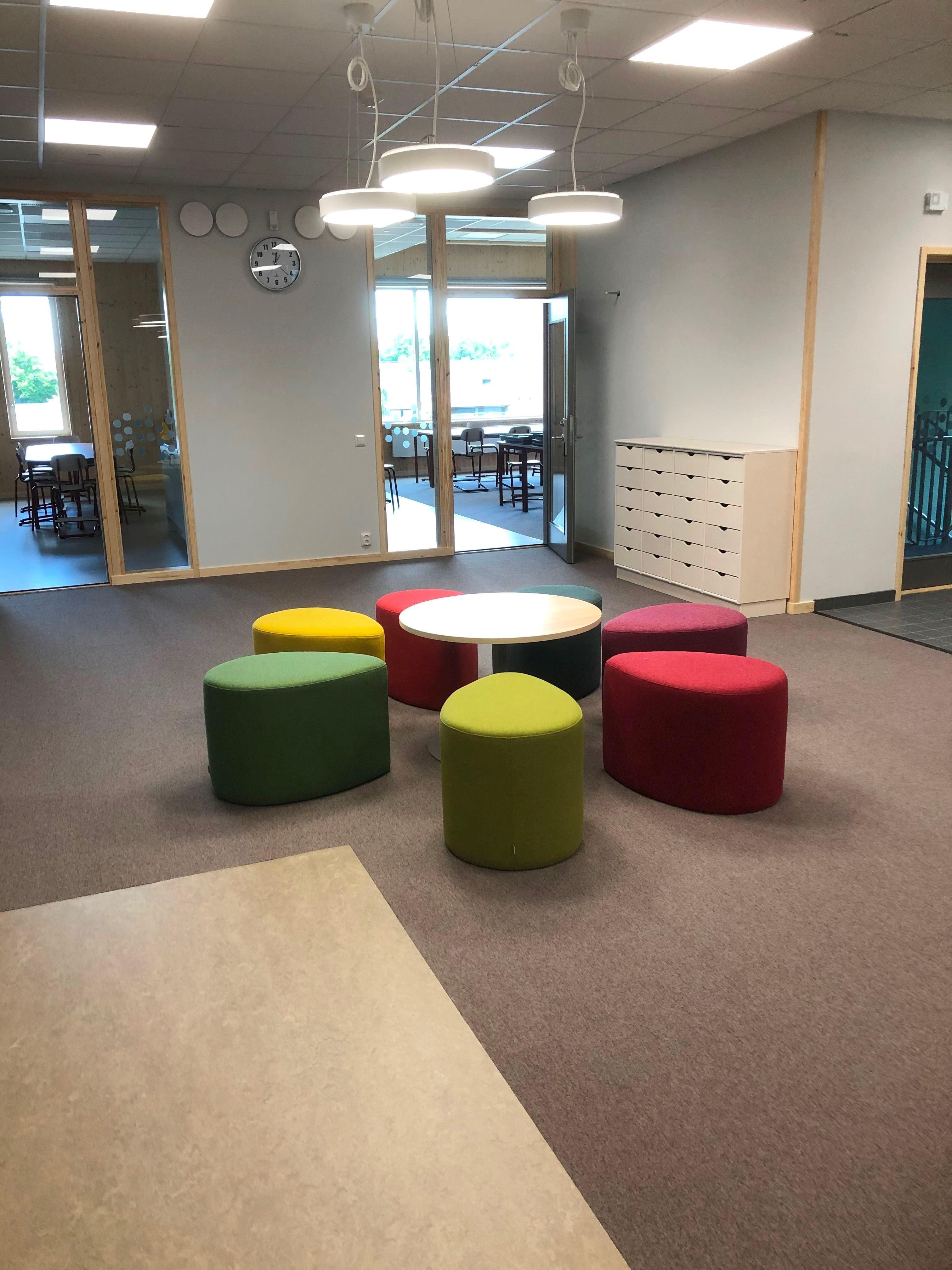 Interiörbild nya Vallaskolan