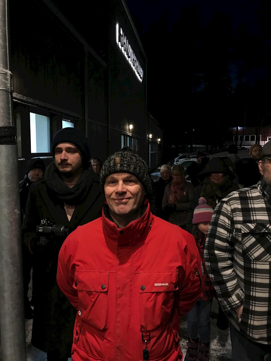 Kultur- och fritidschef Roger Nilsson på invigningen.