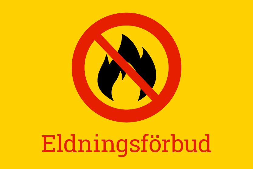 Ikon: eldningsförbud